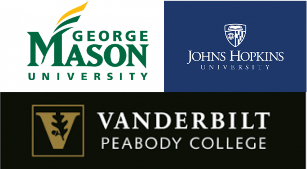 George Mason, John Hopkins and Vanderbilt